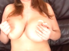 Large breasted buxom euro babe masturbates with a toy