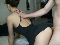 Young beautiful wife in homemade video