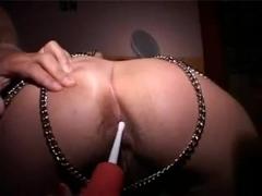 Messy enema anal