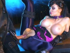 Overwatch xxx parody fuck with superhero Aletta Ocean