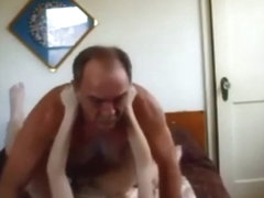 Amateur college girl creampied by old guy