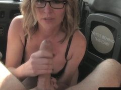 Busty brit doggystyled in the back of the cab