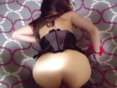 Blindfolded wife takes anal ...