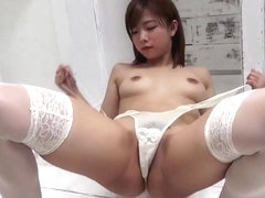 Balloon play - cute asian girl striptease
