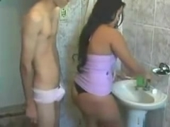 Girl and Boy fuck in the bathroom