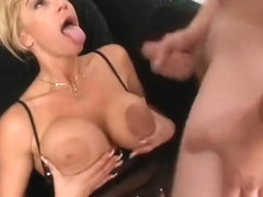 Endearing harlot with huge tits and big nipples is pounded into submission
