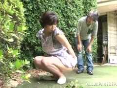 Japanese AV Model is a horny maid enjoying a hard fucking