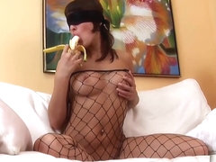 Hot Lillike Masturbates In A Fishnet Outfit