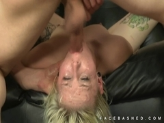 Andie Adore gags and chokes on dick