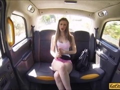 Big boobs teen Stella Cox nailed with stranger in the car