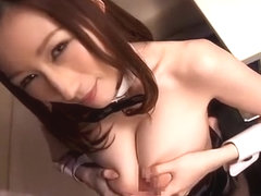 Fabulous Japanese model Julia in Best Fishnet, POV JAV video