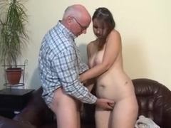 gets by girl man old fucked Chubby