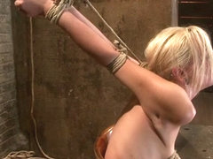 Southern Girl Made To Brutally Cum Over  Over. Tight Bondage, Cruel Tit Bondage.  Orgasms Overload.