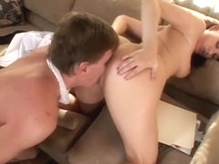 Dana Dearmond enjoys some passionate oral action with her man