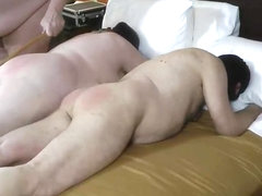 Female male spanking of slavemeat