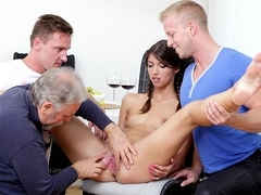 SpoiledVirgins - Virgin College girl having her first sex in her first threesome