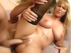 Blonde cock-yearning bimbo Nicole Moore gets carnal with a handsome guy