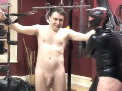 Ballbusting: Mistress Natasha Poole destroys the testicles of Andrea Dipregrave;