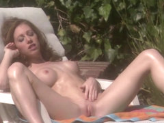 Rubbing Suntan Oil On Her Body Gets Her Just Too Horny - RealGfsExposed