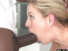 BLACKED Blonde MILF Cherie Deville Takes Big Black Coc