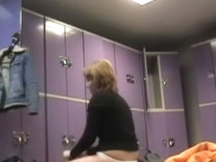 Amateur females in the dressing room got on spy cam