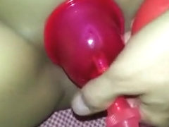 Latina Pussy Pumped for the first time and creamed on moaning mmmmm