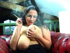 Large Boob Cigar Smokin' Fetish With Mellie D