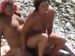 Victory dance after beach sex