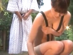 Incredible Japanese girl Chiharu Nakai in Fabulous Outdoor, Voyeur JAV scene