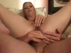 Sexy slim blonde Leah Luv loves to suck big cock and to get fucked hard in the ass