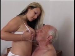 Naked woman having hard core sex