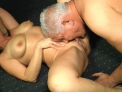 German mamma with glasses getting drilled