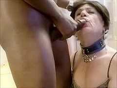 Floozy older lady-man cum eating comp