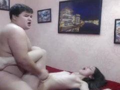 Hot Petite Teen Gets Fucked By His Chubby Roomate