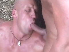 Thirsty Twink Gets Bukkake After Cock Sucking