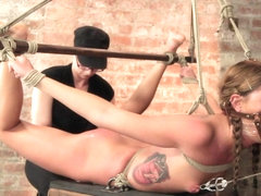 Cassandra Nix in Beautiful Cassandra Nix Bound And Humiliated - HogTied