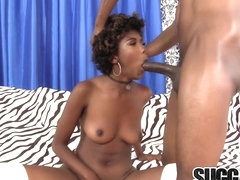 Hot Ebony Vixen Daizy Cooper Devotes Her Mouth and Cunt to a Big Black Cock