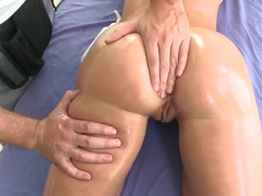 Jada Stevens gets her juicy ass oiled and fingered