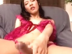 Exotic Japanese girl in Hottest /Futanari, Lingerie JAV clip