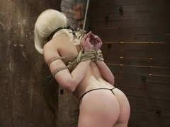 Local amateur girl in her first hardcore bondage shootReverse Prayer, flogged her perfect ass.