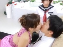 Crazy Japanese whore Mana Sakura in Horny Teens, Threesome JAV scene