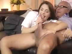 Favourable man gets to fill up young slut's love holes