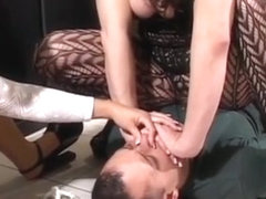 Frisky Headmistress Girl Enjoys Sitting On Her Man's Face