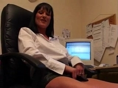Donna masturbate in office