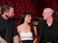 Amazing squirting, fetish sex video with incredible pornstars Milcah Halili and Tomi Knox from Kin.