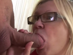 Exotic pornstar in crazy swallow, blonde sex scene