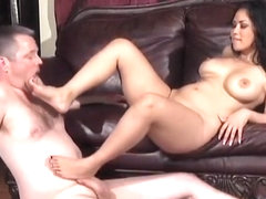 Jessica Bangkok and Jimmy Gets Footjob cum eating
