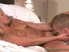 Multi orgasmic hot young blonde has super sensitive clit