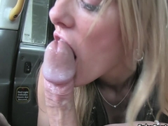 Milf in lingerie got facial in taxi