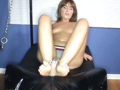 Feet Tease: Struggling in Chastity